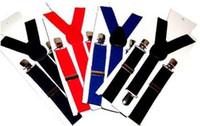 Wholesale Children Clip on Adjustable Pants Y back Suspender Braces Elastic Kids Bla belt hot sale