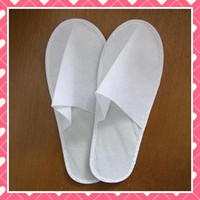 Wholesale 50pairs one time slippers disposable shoe home white sandals hotel babouche travel shoes