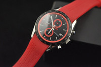 Men's analog red - Luxury Automatic Calibre Mens Watch Red Rubber Stainless Mechanical Wristwatch Men s Watches