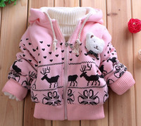 Wholesale Kids deer lamb fashion thick chest decorative card replacements Tong coat