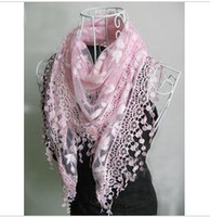 Wholesale Women s Silk Scarves Lace scarf Lace triangular Shawls Scarves