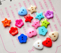 Buttons   Wholesale candy colors the plum flower, and a star, heart-shaped children buttons, free shipping