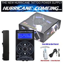 Wholesale Tattoo Power Supply Hurricane Digital LCD Display black Color Foot Pedal Clip Cord