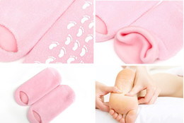 Wholesale Perlier Melograno Spa Moisturizing Booties Socks Gel Glove Foot Mask Prevent Skin Cracking Freeshipp
