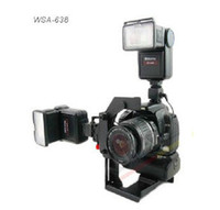 Wholesale light stand Video DV Bracket Camera Flash Bracket Quick Flip Rotate Bracket for SLR DLSR Camera