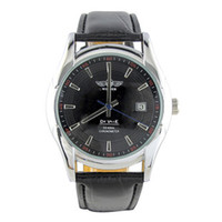 Wholesale Xmas gift winner men dive watches automatic mechanical stainless sport mens leather belt wrist watch