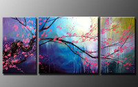 Cheap Modern Abstract Wall Art Cherry Blossom Oil Painting H392
