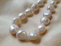 baroque pearls loose - 12 mm White Cultured Freshwater Pearls Baroque Nugget Loose Beads inches