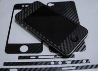 Wholesale 2012 Fashion carbon fiber skin Full Body sticker for iphone s