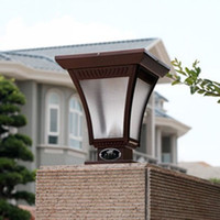 IP65 Garden  Ultra-bright LED solar-powered   LED lamppost wall lamps   lights
