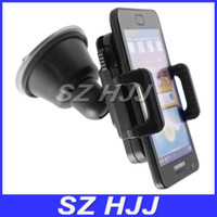 Universal   Universal Car Holder Cell Phone Car Mount Adjustable Width Windshield Cradle for all Cell Phone