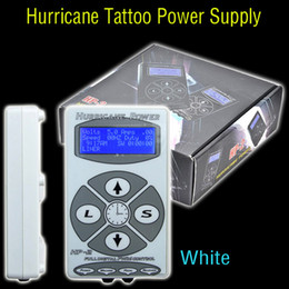 Wholesale White Tattoo Hurricane Digital LCD Display Power Supply Foot Pedal Clip Cord