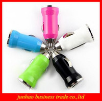 Wholesale Mini Car USB Charger Automobile Cigarette Lighter Universal USB Socket Charger For Cell Phone Camera