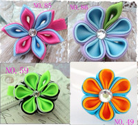 Wholesale girls flower hair clips baby hair wear children s hair clips kids Hair Accessories m12