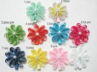 Hair Clips ribbon flowers - 2 quot baby hair clips Girl hair bows flowers hair accessories hair clip grosgrain ribbon m13