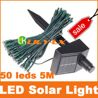 Wholesale BIG SALE LED Solar light string led bulbs Meters with Ni MH batty led lights IP44 Free ship