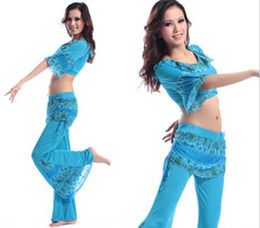 Wholesale Costume Elasticity Printing Belly Dance Suit High Quality Printing Soft Shitsuke Stage Wear Spandex