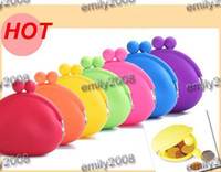 Wholesale High Quality Silicone Coin Purse Lovely Coin Bag Silicone Money Bag Puse Japanese Style Coin Wallet