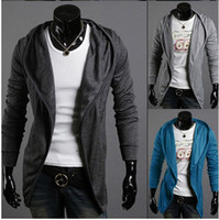 Wholesale Men Sweater Hoodied Cashmere Long Sleeve Casual Good Elastic Fashion Sweater