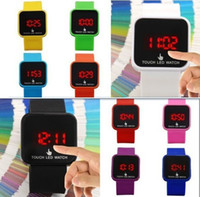 Wholesale FREE SHIPING color TOUCH Fashion Magic LED Digital Touch Screen Colorful Date Unisex Sport Watch
