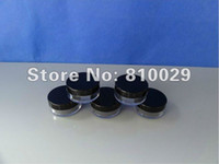 Wholesale T B g black cap plastic empty clear jar cosmetics container black cap jar