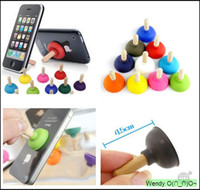 Wholesale 2500pcs mini Toilet suction disc function mobile phone holder ideas Mobile Rack care for iphone4 S