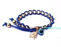 Wholesale New fashion European charm handmade Flocking Skull Head rope chain bracelet bangle jewelry