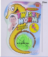 Wholesale EMS Funny toy Magic worm Twisty worm Wurli worm Magic wiggles