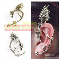 Unisex Party Alloy Fashion Design Hoop Earrings Chinese Dragon Cuff Earrings Ear Cuff Chain Alloy Earrings 2Colors