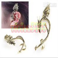 alchemy earrings - Fashion Dragon Style form Earring New Alchemy Gothic Dragons Lure Cuff Pewter Earring E