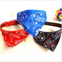 Wholesale New Adjustable triangular Scarf Pet Dog Cat Puppy Bandana Scarf CollarZH1