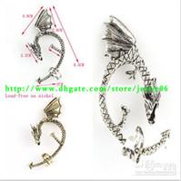 Wholesale Gothic Punk Rock Temptation Metal Wrap Fly Dragon Ear Cuff Clip Earrings Clips Pin Earring Stud