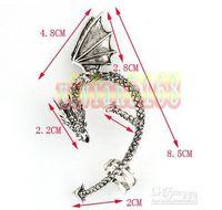 alchemy earrings - Dragon Ear Cuff Earring Alchemy Gothic Stud Wrap Lure Ear cuff Silver gold Dragon Wrap Earring