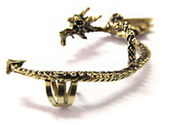Wholesale Newest Gothic Punk Rock Temptation Metal Wrap Fly Dragon Ear Cuff Clip Earrings Gold Sliver Earring