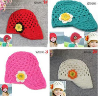 Wholesale Toddler dinosaur Crochet Hat Animal design EarFlap newborn Handmade Beanies Knitted caps pc