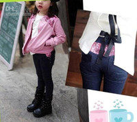 Wholesale Hot sale Girl s Pants baby Feet Pants autumn pants Girl s jeans Girl s leggings Tights Sequins jeans