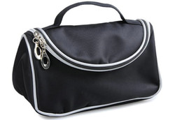 Wholesale NEW With zipper Cosmetic Black bag