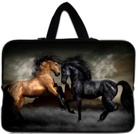 Wholesale Horses pattern quot quot inch waterproof notebook laptop sleeve case bag Handle A89h