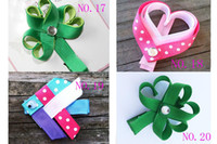 Wholesale girl animals hairs clip hair bows Hair Accessories girl hair bow grosgrain ribbon bows girls cartoon