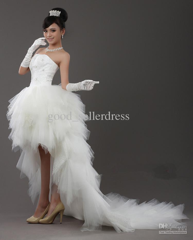 2012 sexy wedding dress dresses strapless asymmetrical for Sexy high low wedding dresses