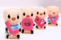 Wholesale resin craft arts cute animal pig doll home decoration gift car for lover kids friends wedding novely