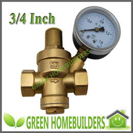 Wholesale 3 quot Brass H59 Pressure Reducing Ball Valve SHPRV06 with Pressure Gauge