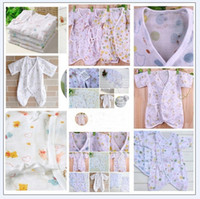Wholesale baby s layers of gauze Romper newborn baby clothing yarn cloth Butterfly Dress new sets Y JUL293