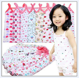 Wholesale Girls top tank tops Children Tank top tops waistcoat girl clothes shirt shirts pajamas Y JUL297