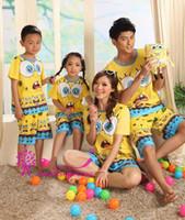 Wholesale New Women s Men Boys Girls Nightwear Sleepwear Clothes Family Suit Home Wear V3476