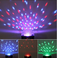 Wholesale FEDEX Free Mini LED Stage Light RGB Crystal Magic Ball Effect light Disco Party Stage Lighting AB1819