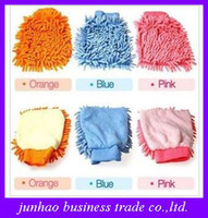 Wholesale Creative Microfiber Chenille Car Wash Glove Prvate Household Cleaning Cloth Single Sided Auto Mitt
