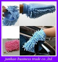 Wholesale Novelty Microfiber Chenille Car Wash Glove Prvate Household Cleaning Cloth Single Sided Auto Mitt