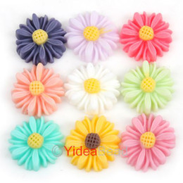 Wholesale 216pcs Mixed of Colors Chrysanthemum Flower Shaped Beads Flat Back Cabochons x4mm DIY