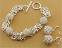 Wholesale High quality silver TO Bracelets Earrings Fashion Jewelry Set set